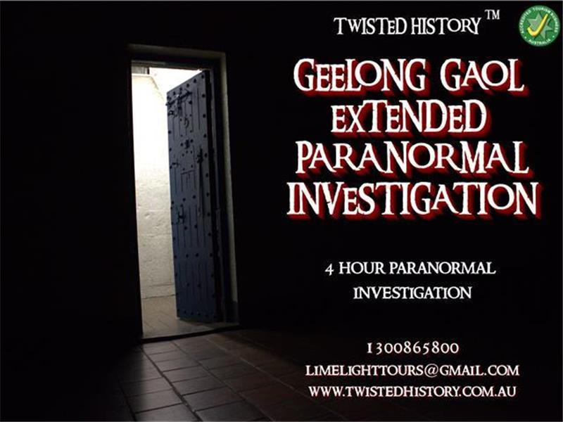 Geelong Gaol Extended Paranormal Investigations