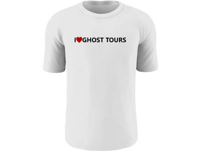 I Love Ghost Tours Unisex Light T-Shirt White